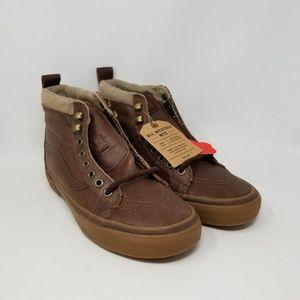 Vans Sk8-Hi MTE Brown Sneakers Men's Size 7.5